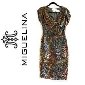 NWT Miguelina Velvet Burnout Dress
